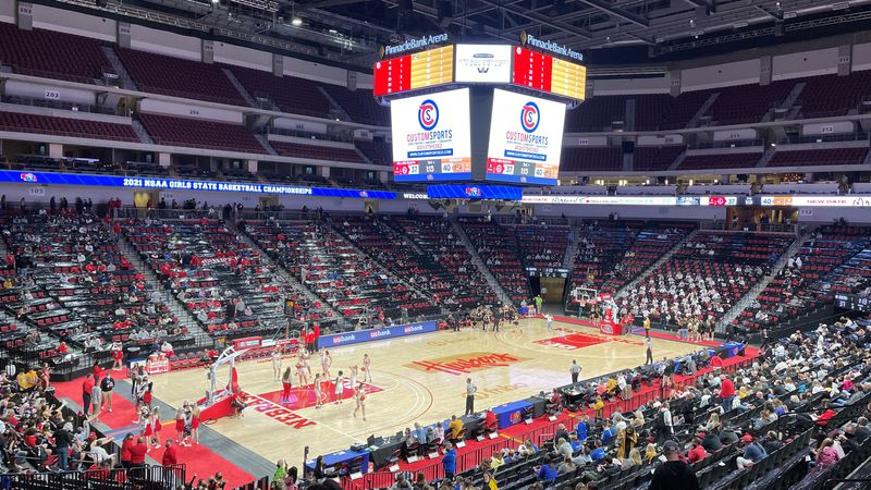 Girls basketball at Pinnacle Bank Arena