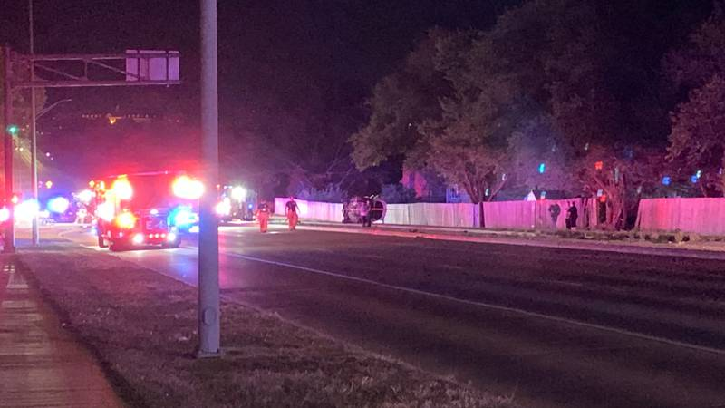 The scene of a serious crash, east of 27th & Old Cheney, early Sunday morning.