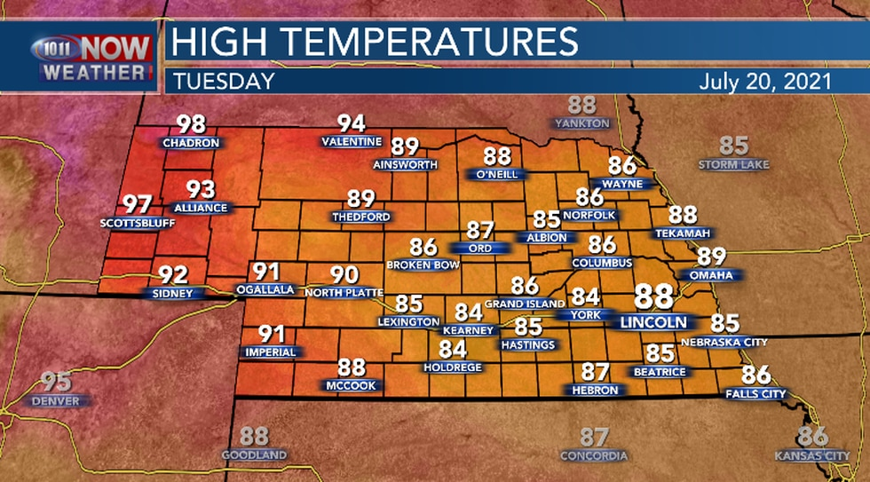 Tuesday will be a little warmer than Monday.