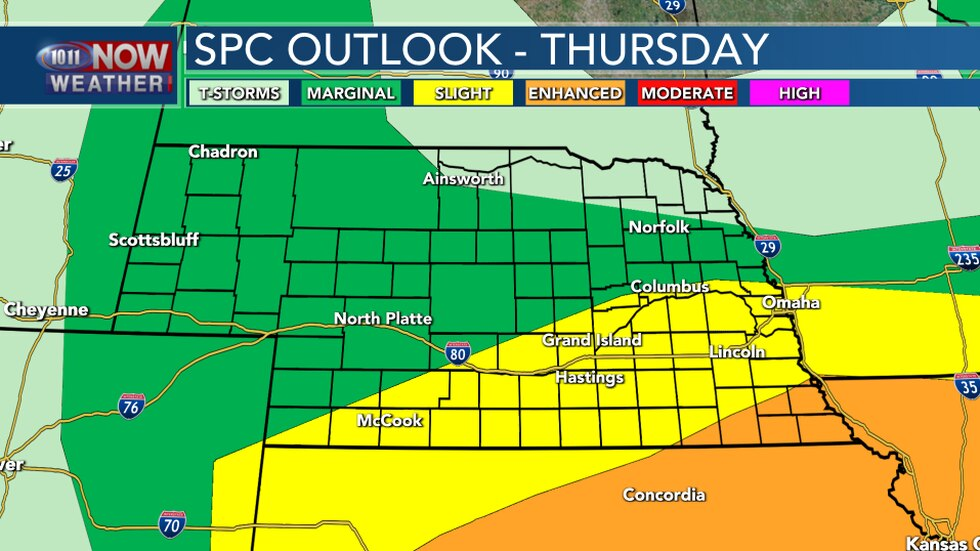 Severe Weather Outlook - Thursday Night