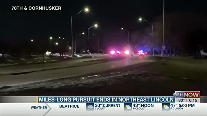 A pursuit that started in the Omaha Metro ended in northeast Lincoln just before midnight,...