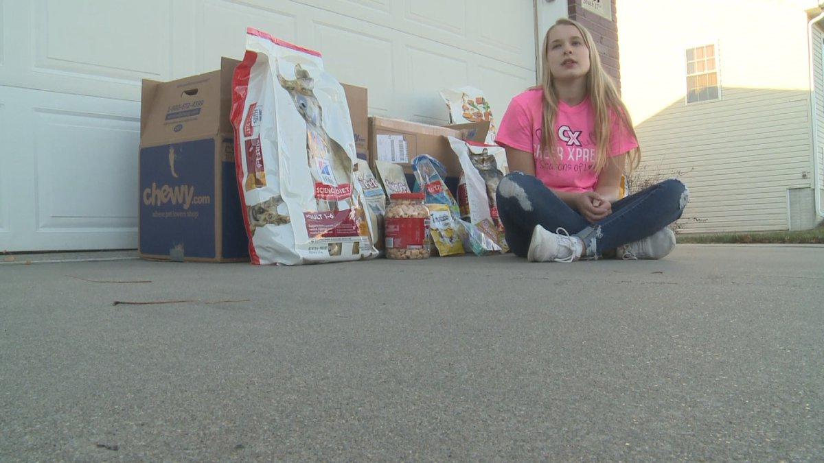One Lincoln high schooler is spending her Thanksgiving Holiday Gathering Donations and giving...