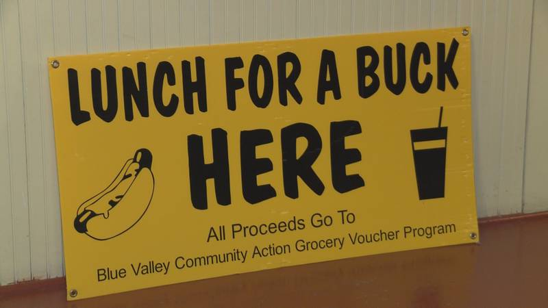 A hot dog, chips and a drink all for $1, and all proceeds benefit Blue Valley Community Action...