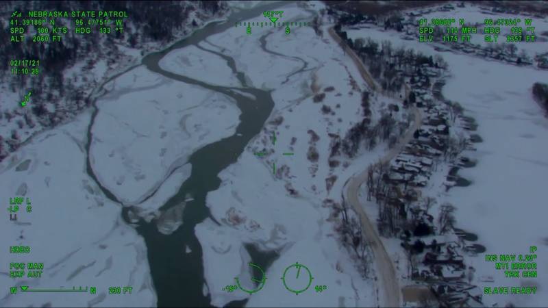 -Emergency agencies are taking to the sky to make sure Nebraska doesn't see historic flooding...