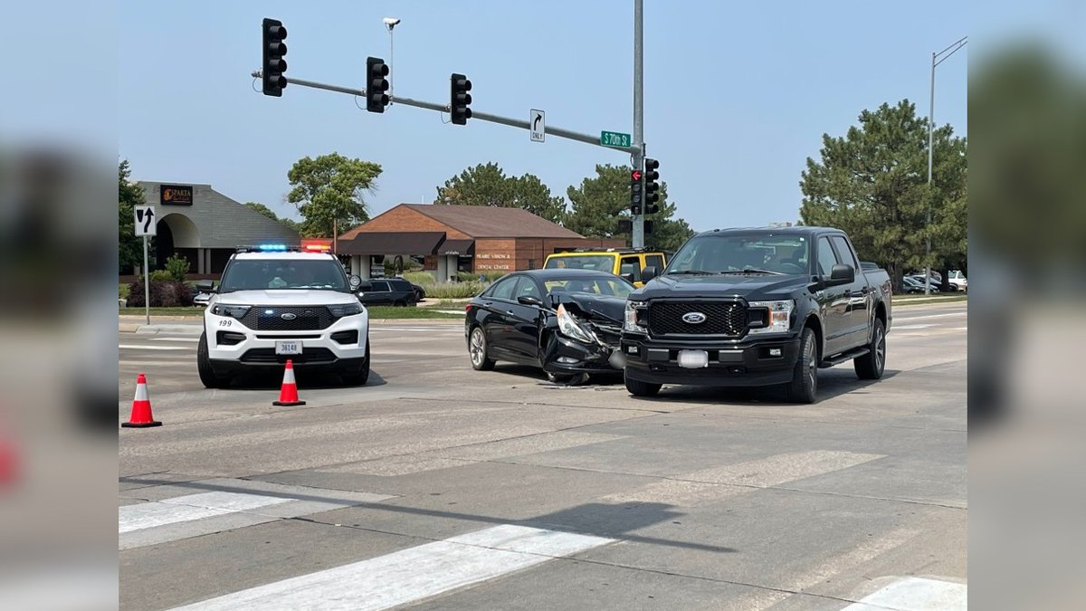 LPD responded to a crash near 70th and A Streets.