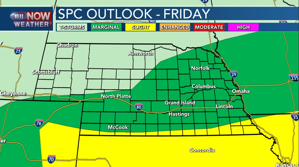 Severe Weather Outlook - Friday