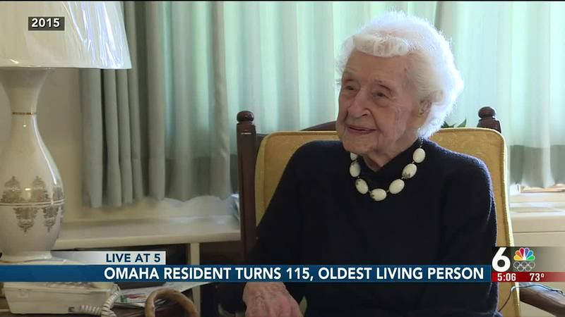 Thelma Sutcliffe of Omaha turned 115 on Friday, Oct. 1, and is now the oldest living American.