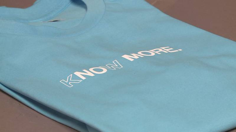Proceeds from sales of KNOW MORE shirts will go to Voices of Hope.
