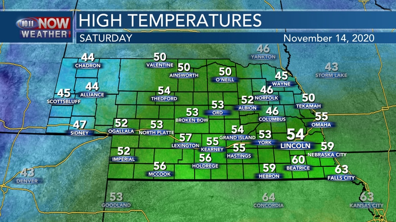 Temperatures take another small step forward on Saturday with highs in the mid 40s to mid 50s,...
