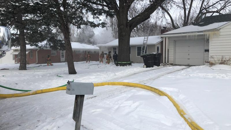 Lincoln Fire & Rescue responded to a report of a fire Tuesday at a home on S 46th Street.