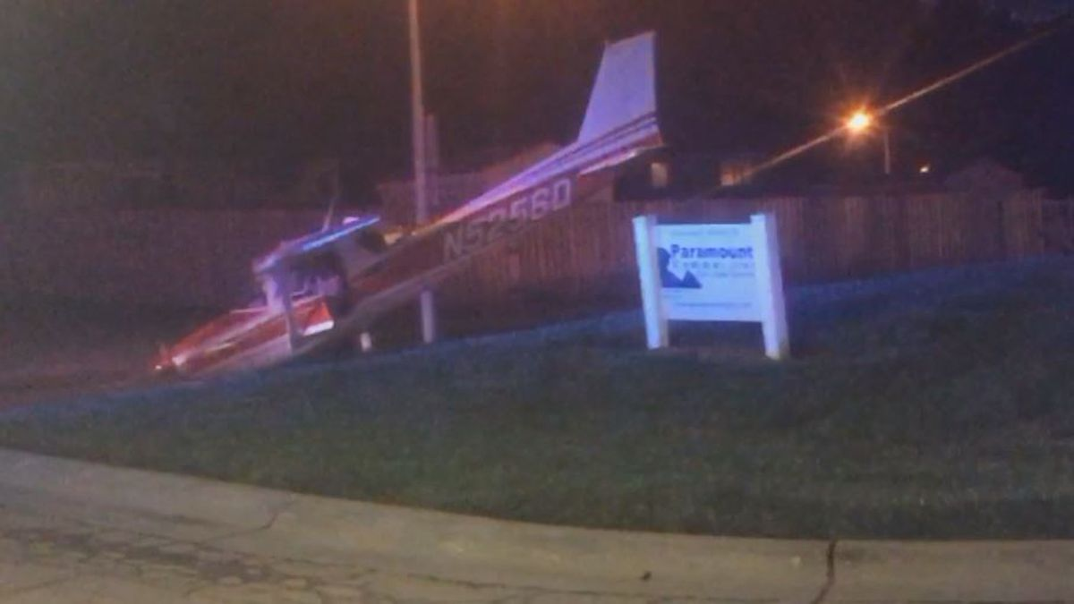 A small plane crashed near the Millard Airport Friday morning. (Source: WOWT)