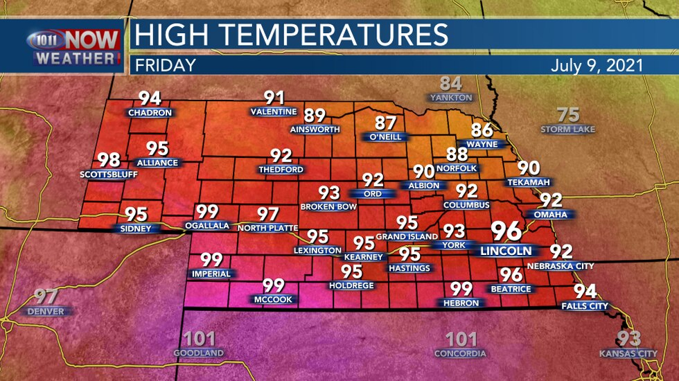 Highs On Friday