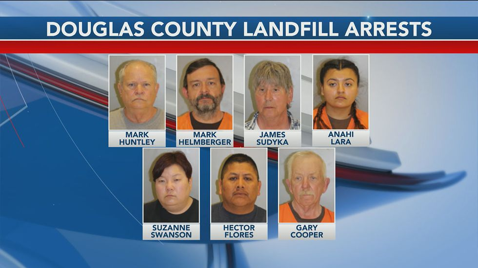 Douglas County landfill supervisor, employees, customers arrested
