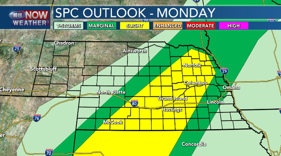 Severe weather will be possible in portions of central and northeast Nebraska. Isolated severe...