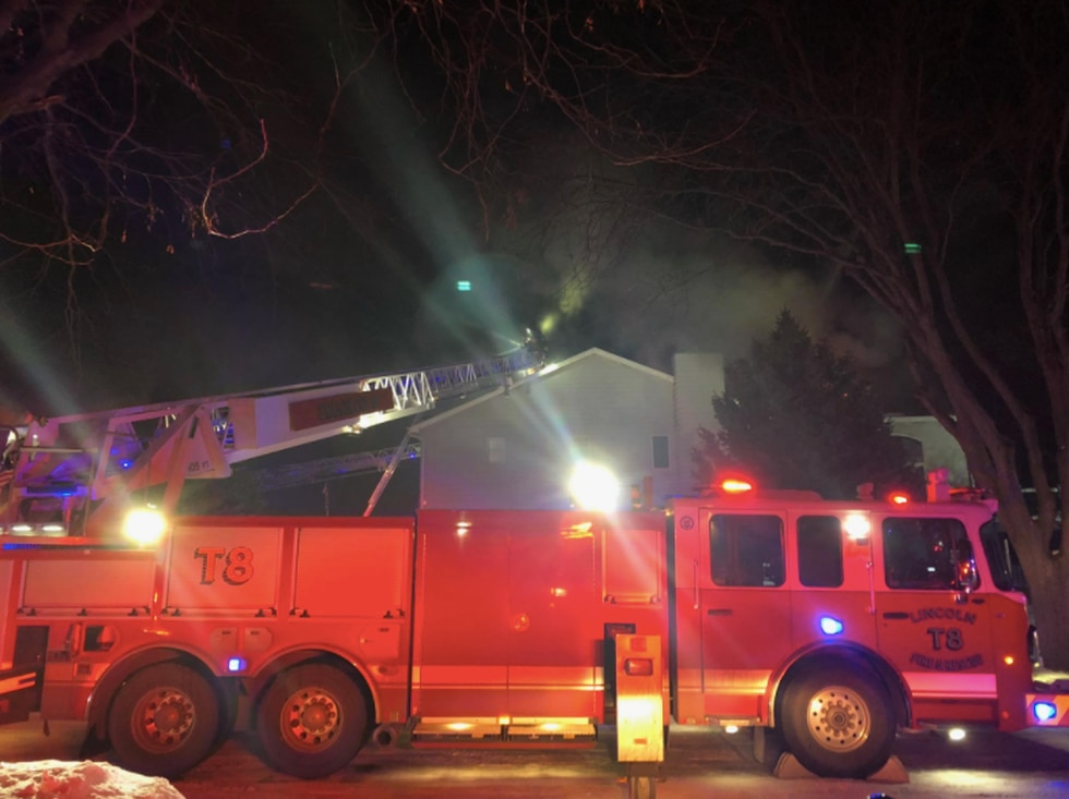 Lincoln Fire & Rescue responds to a two-alarm house fire in southeast Lincoln early Saturday...