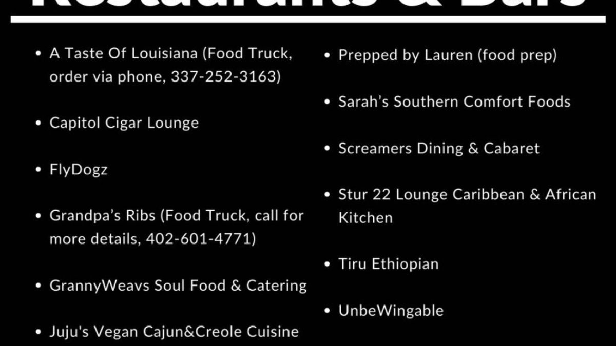 A few local places teamed up and are using social media to help support black owned restaurants here in Lincoln.