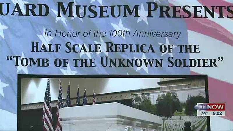 The replica of the Tomb of the Unknown Soldier is making its national tour, with a stop in...