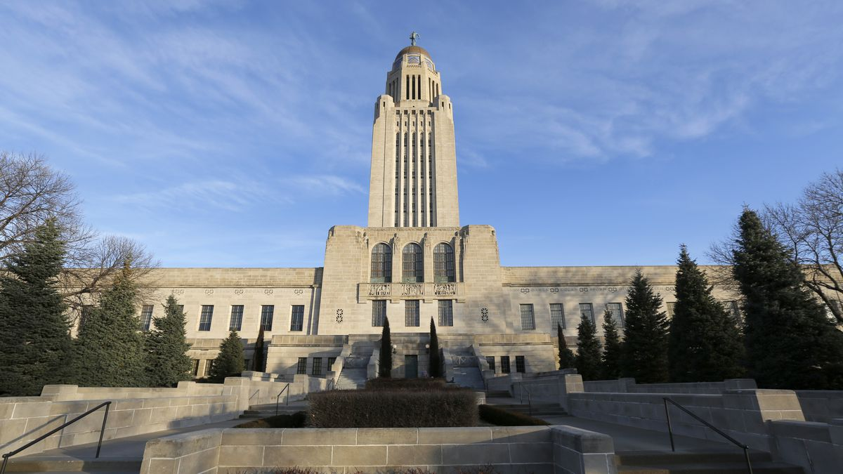 FILE - In this Jan. 8, 2020 file photo the Nebraska State Capitol building is seen on the...