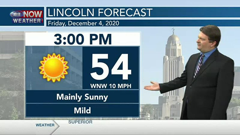 Sunshine, mild weather for Friday.