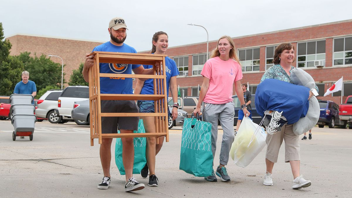 UNK expects about 1,375 new and returning students to move into residence halls by Aug. 23. (UNK Communications)