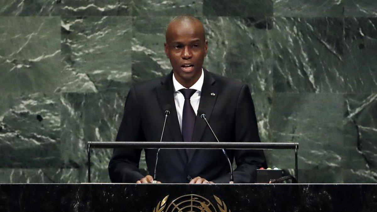 In this Sept. 27, 2018, file photo, Haiti's President Jovenel Moise addresses the 73rd session...