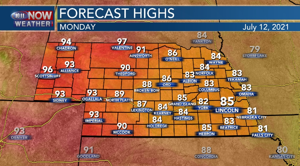 Below average temperatures expected for most of the area today.