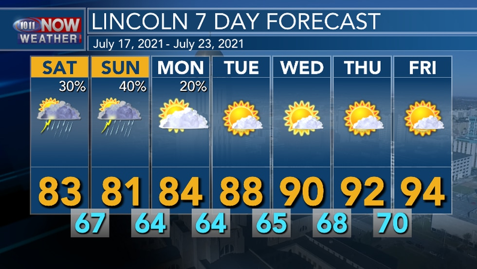 Rain chances continue through Monday, then an upper level ridge builds into the area and there...