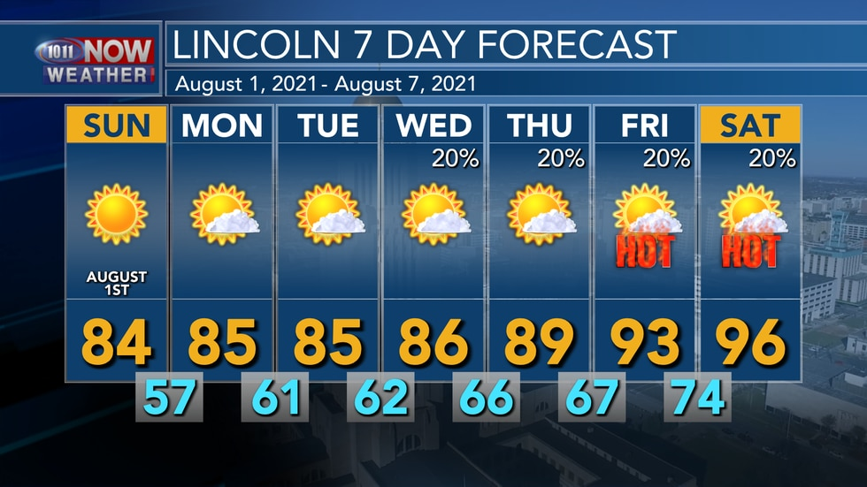 Cooler and more comfortable weather is forecast over the next few days, but temperatures will...