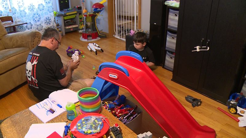 Lincoln family promotes in-person learning for their child with autism.