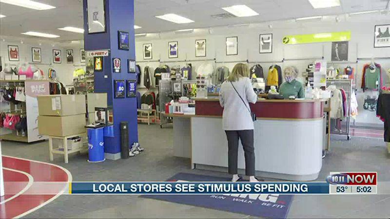 Local stores see stimulus spending