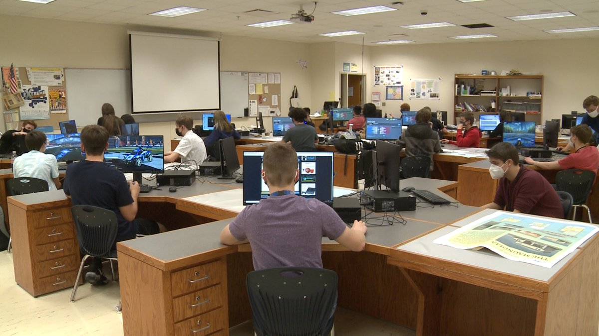 With headsets and full concentration, the Lincoln East Esports Club is underway this spring.
