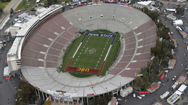 No spectators will be allowed at the Rose Bowl for the College Football Playoff semifinal on...