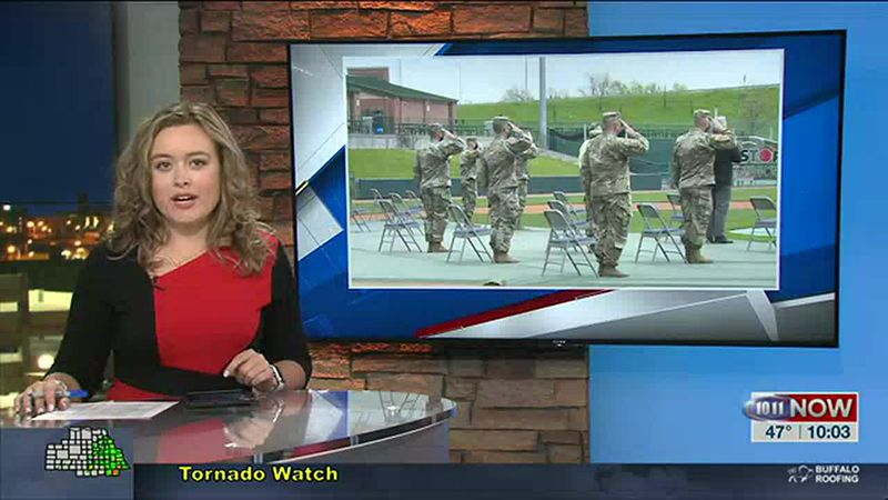 Sending off national guard soldiers to East Africa