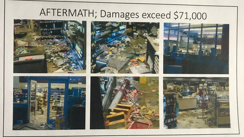 Rioters caused $71,000 in damage to the EZ Go near 25th & O Streets