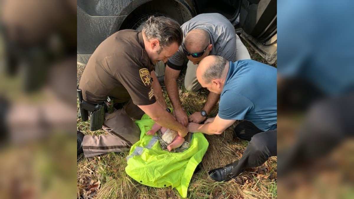 Deputies at a Michigan sheriff's office announced a newborn boy was found on the banks of a...