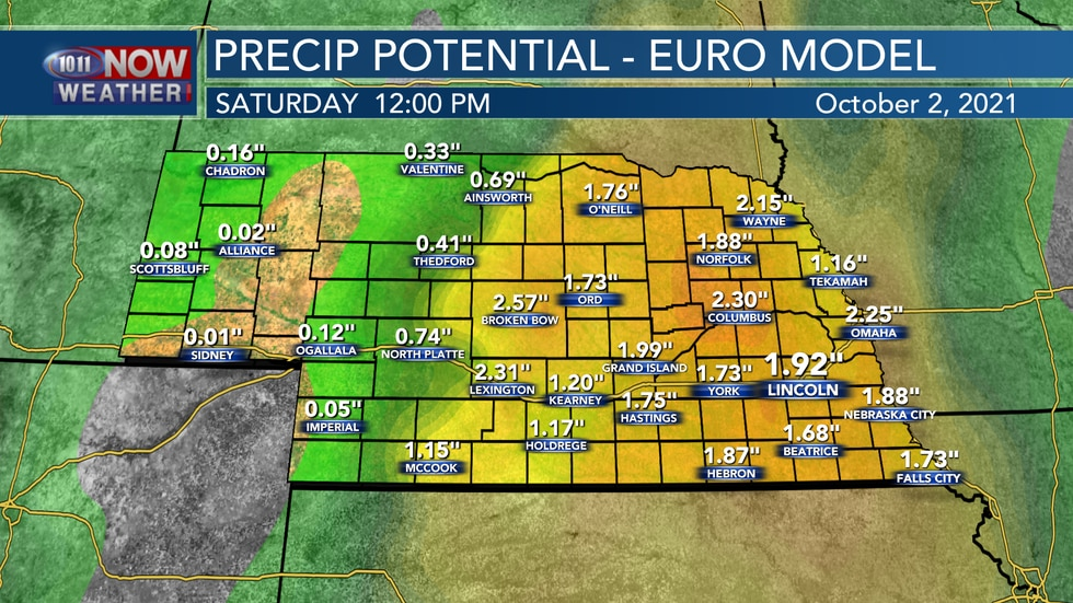 The European model is much more bullish on rainfall amounts later this week and shows the...