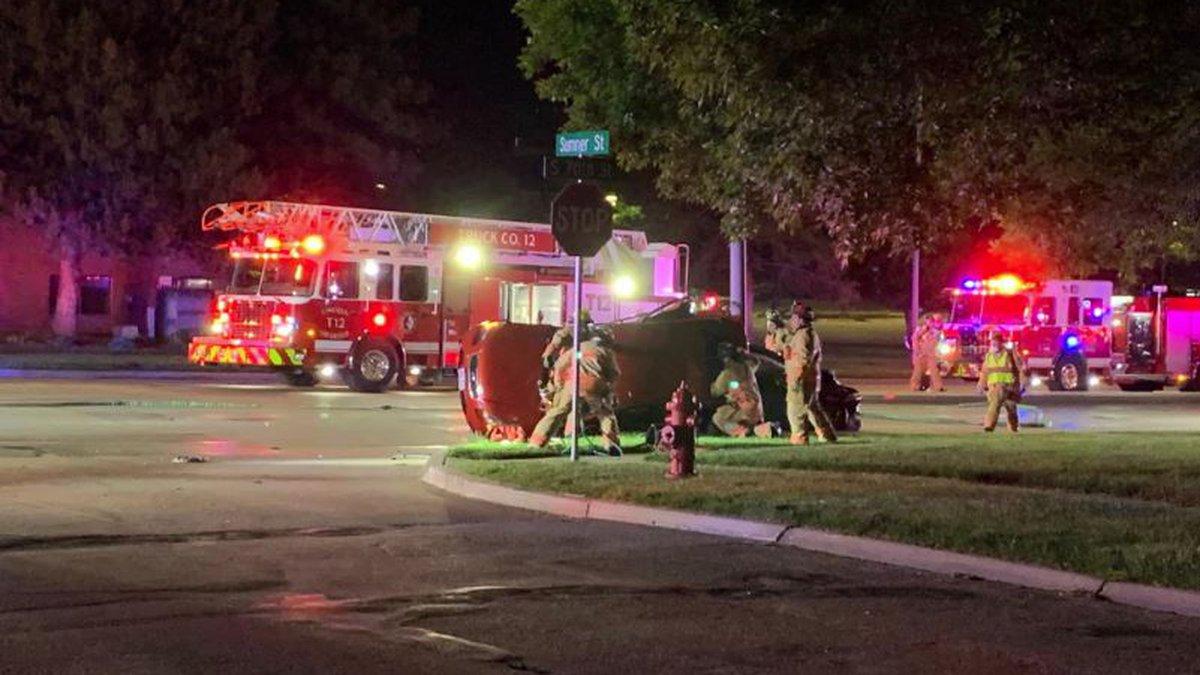 LFR responds to two-vehicle crash at 70th & Sumner