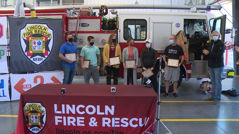 LFR recognized six people Monday for their help in saving a Lincoln man's life.