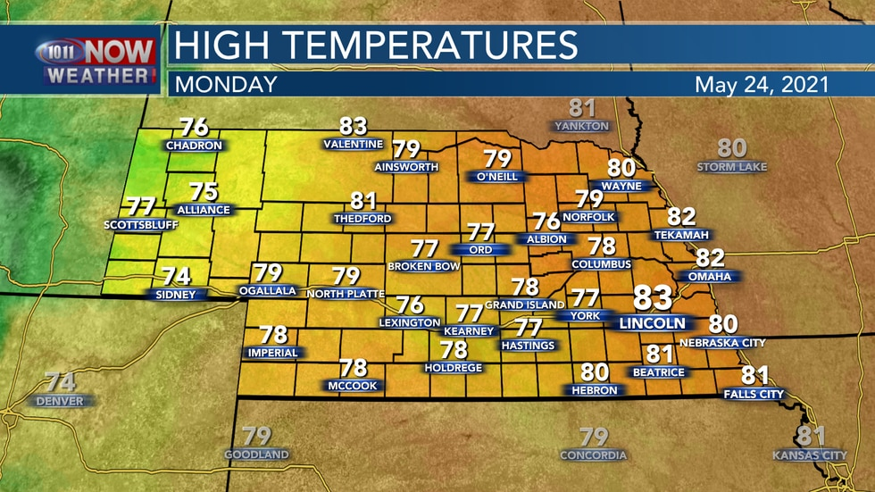 Temperatures should reach the upper 70s to lower and middle 80s on Monday afternoon with more...