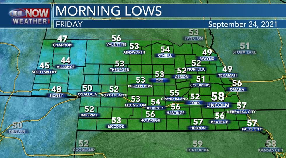 Mild overnight temperatures expected.