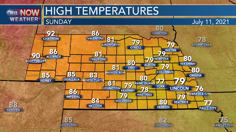 Below average temperatures remain for the second half of the weekend.