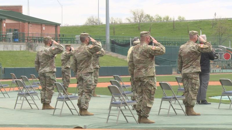 More than 190 service men and women, and their families, gathered in Haymarket Park Saturday...