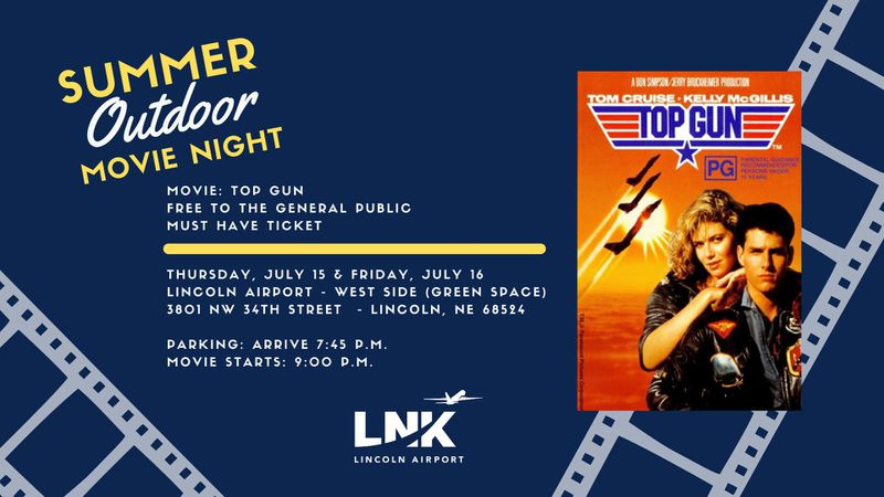 The Lincoln Airport is hosting free drive-in showings of 'Top Gun'