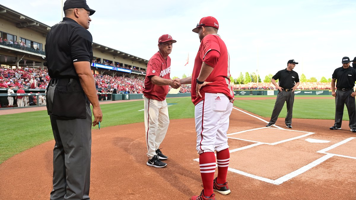 In a win or go home game Nebraska forces game seven after beating Arkansas 5-3 Sunday.