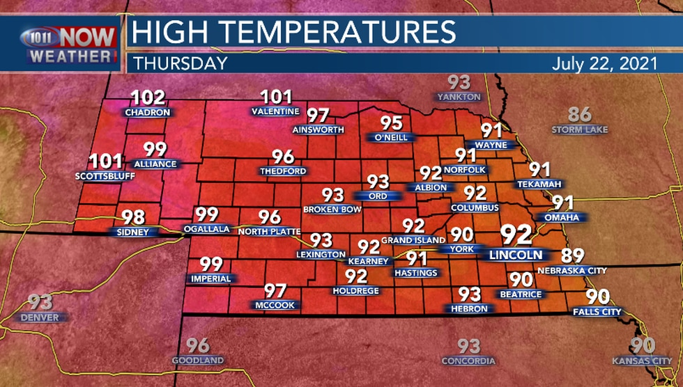 Above average temperatures expected for most of the area.