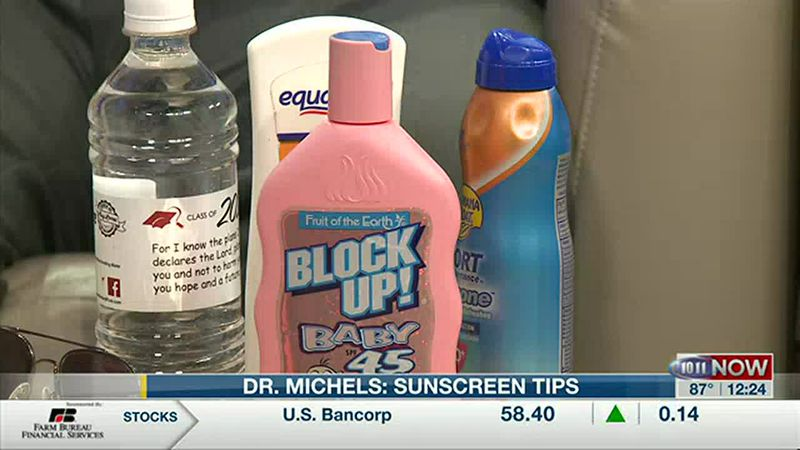 Sunscreen tips on 10/11 NOW at Noon