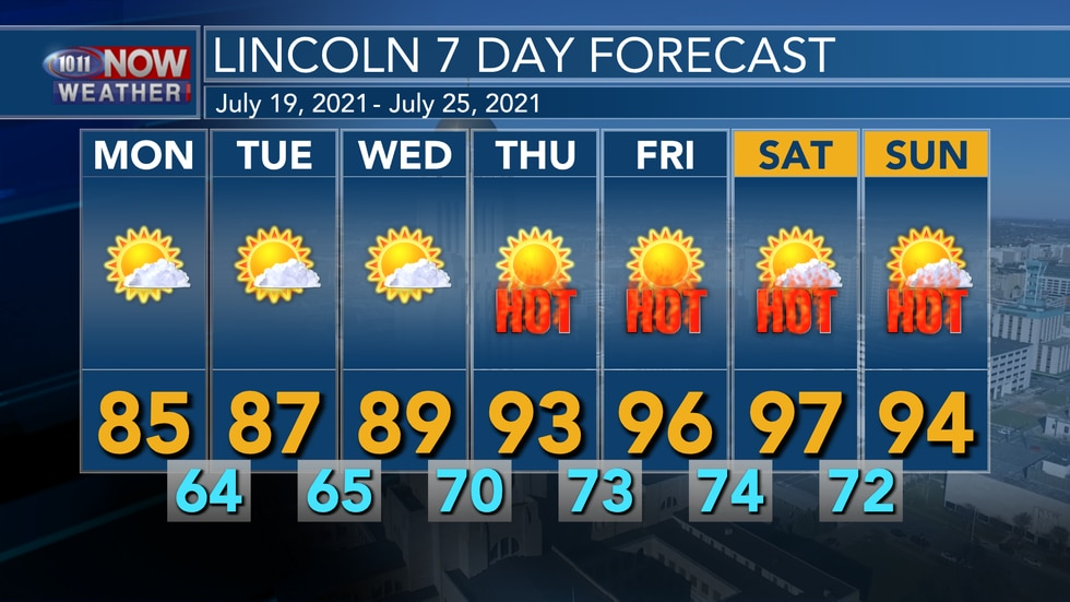 Dry weather is expected over the next week with temperatures gradually warming back to the...