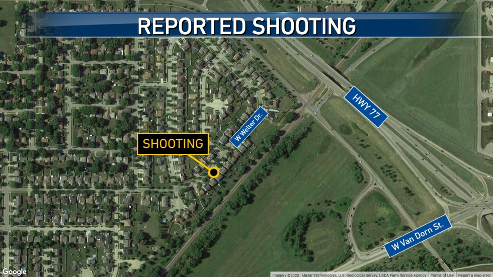Map of reported shooting in Lincoln.
