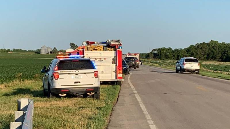 LSO was on the scene of a crash just west of Firth Wednesday morning.