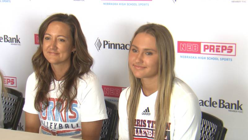 Christina and Maisie Boesiger appear at 2021 Fall Sports Media Day.